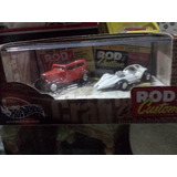 100 % Hotwheels. Rod & Custom. 2 Autos: Manta Ray Y Ford 32