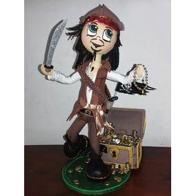 Fofucha - Pirata - Muñeco- Jack Sparrow - Piratas Del Caribe