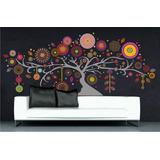 Arbol Ombu Mandalas, Vinilo Decorativo Multi Color, 240 Cm