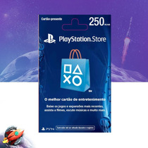 Cartão Psn Brasileira R$ 250 Reais Playstation Store Brasil