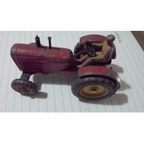 Miniatura Trator Massey Harris Com Carreta Escala 1/43