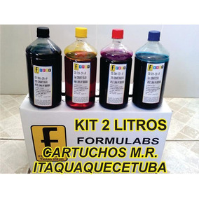 Kit 2 Litro De Tinta Corante Para Hp8000 Hp8100 Hp8500 8600