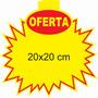 Cartaz Splash Oferta (20x20cm) Papel Dupléx 250g - 100und