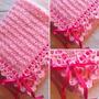 Mantilla Para Bebé Tejida Al Crochet