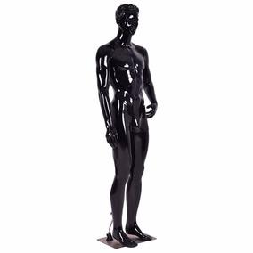 Maniquí Maniquie Plástico Cuerpo Entero 6pies Hombre Negro