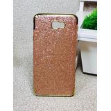 Capinha Capa Case Galaxy J5 Prime Glitter Brilho Rose Luxo