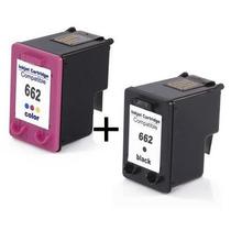 Kit Cartuchos Hp Compatível 662 Preto + Hp 662 Color +brinde
