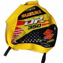 Funda Tanque Amarilla Suzuki Dr 350 Grip Calidad Premium Fmx