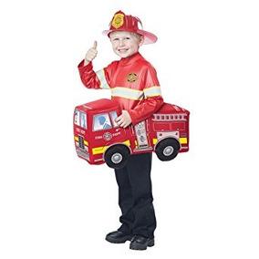 Disfraz Para Niños Camión De Bomberos Del Traje Del Jinete