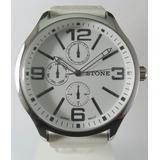 Reloj Stone Modelo Big White Quartz Acero Garantía Oficial