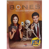 Bones - 3ª Temporada - 4 Dvds - Novo - Lacrado