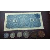 Lote De Billete De 10 Pesos 1915 + Centavos De 5 A 20 Mexico