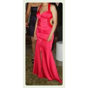 Vestido Fiesta Largo Rojo Area Limite. Egresada Casamiento