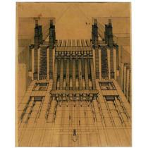 Lienzo Tela Planos Arquitectura 1914 Sant Elia 62 X 50 Cm
