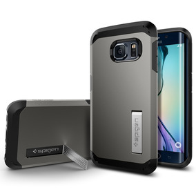 Funda Spigen Tough Armor Samsung S6 Edge - Gunmetal