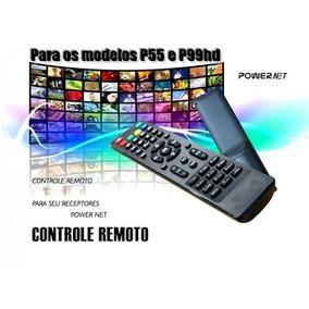 Controle Remoto Powernet P99hd P55 Platinum Grátis 2 Pilhas