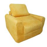 Diversión Muebles Silla Sleeper - Canary Yellow Micro Suede