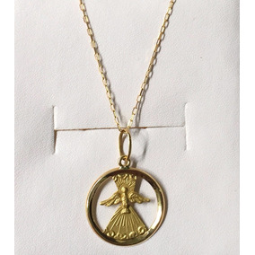 96e297416277e Resina Medalha Do Divino Espirito Santo C Corrente A%c3%a7o - Joias ...