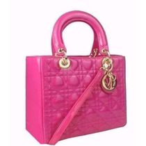 Bolsa Christian Dior Lady Di Original Rosa 25 Cm Exclusiva