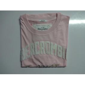 Camiseta Abercrombie Orig. Masc Rosa - Pronta. Entrega