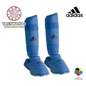 Equipo Entrenamiento adidas - Espinilleras Karate Wkf Azul