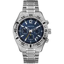 Relógio Nautica Nst402 N19627g Cronograph 100% Original Novo