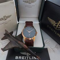 Relógio Breitling Vintage P Ouro Vermelho 18k Mint Magnífico