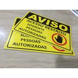 Placas De Sinalização Pvc ,acrilico , Acm , Aço Inox, Mdf...