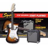 Pack Guitarra Electrica Squier Fender Stratocaster Original