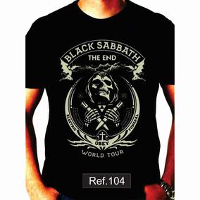 Camiseta Black Sabbath Dio The End Camisas De Bandas Rock