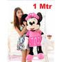 Boneco Pelucia Minnie Mouse 1mtr Rosa Gigante Antialergico