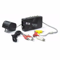 Transcoder Universal Bak Bk-25tr Ntsc Para Pal-m Saída De Rf