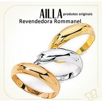 Anel Aliança Triplo Folheada 3 Cores 510656 Rommanel Aro 16