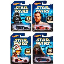 Coleção 4 Carrinhos Hot Wheels Série Star Wars Mattel 1:64