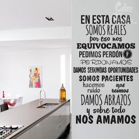 A Vinil Decorativo Familia , Armonía , Amor Y Respeto 58 Cm