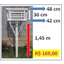 Lixeiras De Calçada Em Pvc P/ Casas E Comércios Em Geral