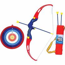 Kit Arco E Flecha Infantil C/ Aljava + 3 Flexas + Alvo - Bel