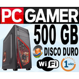 Cpu Gamers-targeta Grafica Geforce2gb Ddr3-500gb-4gb-wifi-