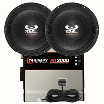 Kit 2 Woofer Ultravox 12 1100 Wrms +módulo Taramps Hd 3000