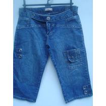 Bermuda Jeans Da Sawary Com Strass Tam 42
