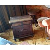 Mesa Bar Em Madeira Maciça Imbuia - Estilo Colonial