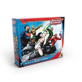 Quebra-cabeça 500 Peças - Liga Da Justiça - Grow