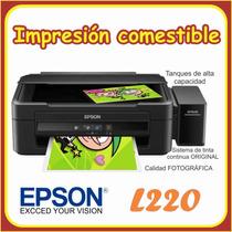 Epson L220 Obleas Tintas Comestibles
