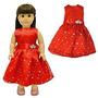 Juguete Ropa De La Muñeca - Vestido Rojo Hermoso Con Los Pu