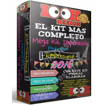 Kit Imprimible Empresarial Oro + Candy Bar + Actualizado Ago