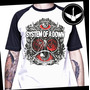 Camiseta Raglan System Of A Down Ou Baby Look Rock Banda