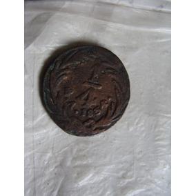 Moneda Un Cuarto De Real , Año 1834 , Como Aparece En Las Fo