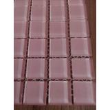 Mosaico, Malla Decorativa De Vidrio Rosa Claro