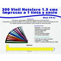300 Brazalete Pulsera Vinil Plastico Xvaños Impreso Y Envio