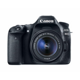 Camara Canon 80d Con Lente 18-135mm Is Nano Usm Pedido 1 Dia
